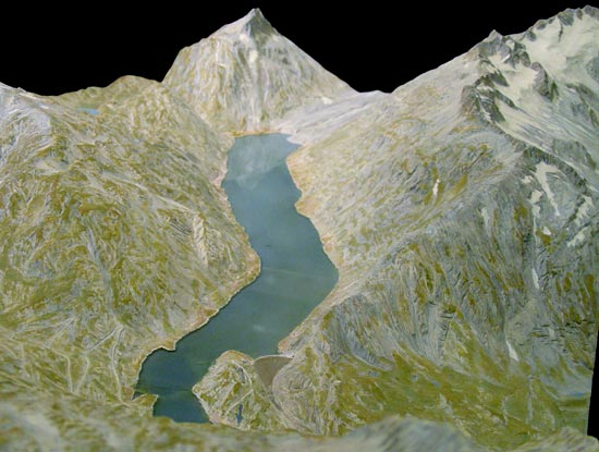 Relief of lake Grimsel