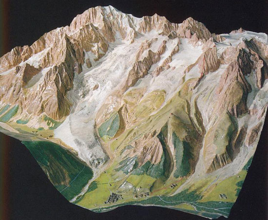 Mont Blanc relief
