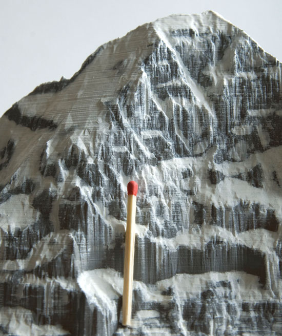 Detail of the relief of the Eiger