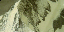 Relief of Mount Eiger (Switzerland) created by the use of a computer based technique