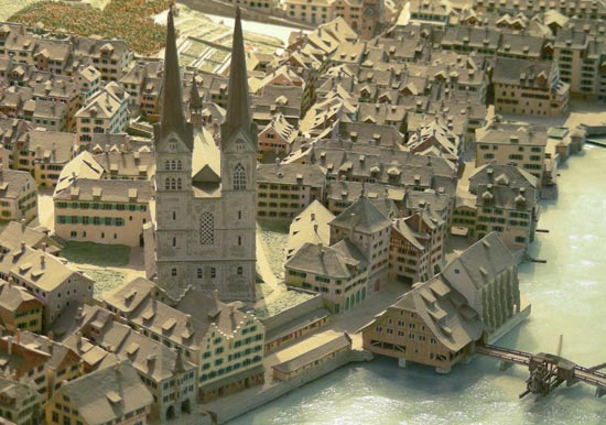 Model of the city of Zurich (Switzerland)